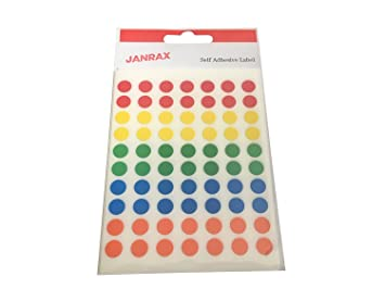 Stickers Circle Pack of 560 Orange 8mm Self Adhesive Round Labels