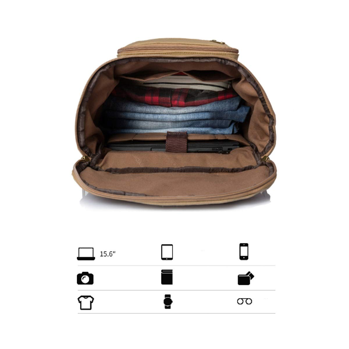 Canvas Shoulder Bag Xiaoningmeng Mountaineering Bag Classic Black 55L Duffel Bag Travel Essential Color : Black Large Capacity Brown