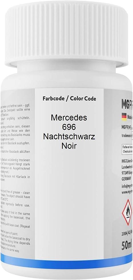 Mg Prime Autolack Lackstift Set Für Mercedes 696 Nachtschwarz Noir Basislack Klarlack Je 50ml Auto