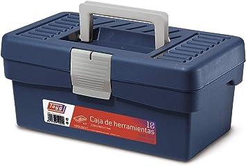 Tayg Caja herramientas plástico n. 10, negro, 290 x 170 x 127 mm: Amazon.es: Bricolaje y herramientas