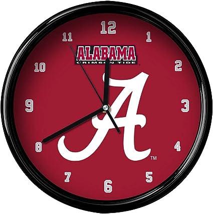 Team Color One Size FOCO NCAA Alabama Crimson Tide Team Logo Wood Barrel Wall ClockTeam Logo Wood Barrel Wall Clock