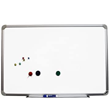 top quality 24x36 white magnetic dry erase board with aluminum frame and marker tray