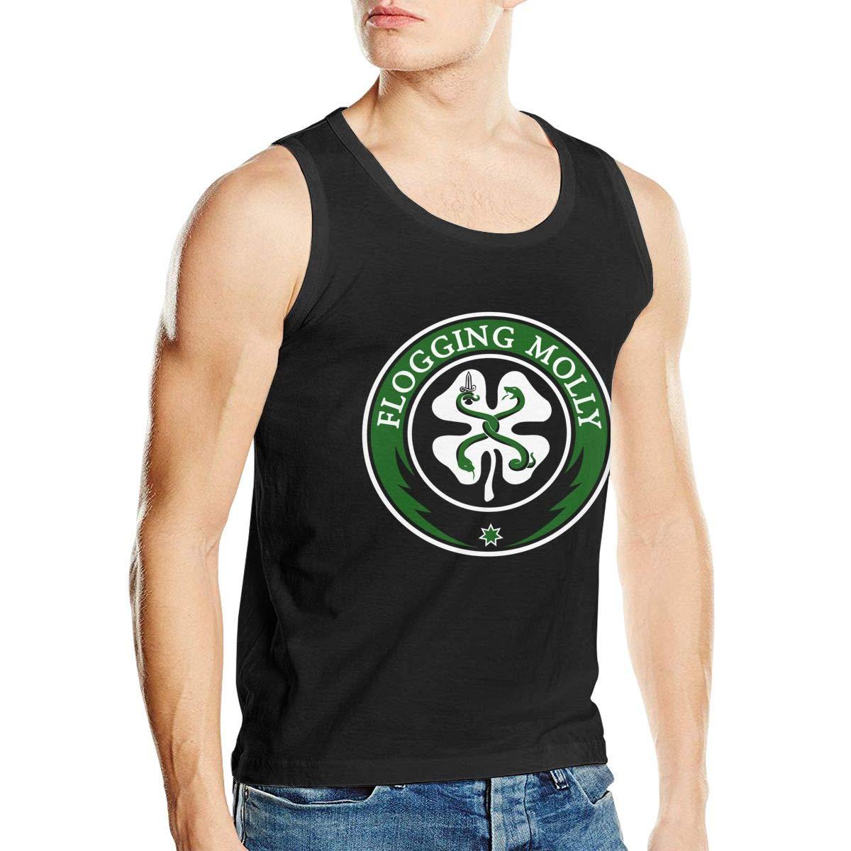CharlieRGill Flogging Molly Mens Sports Comfort Sleeveless Tank Vest Tee