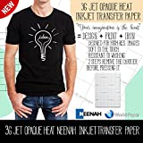 NEENAH''3G JET OPAQUE'' (8.5''x11'') 50 Sheets Inkjet Dark Heat Transfer Paper Iron-on or Heat Press