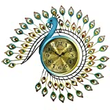 Decorative Wall Clock/Living Room Of Peacocks Birds Wall Clock/Creative Personality Clock/European-american Iron Wall Charts-C 20inch