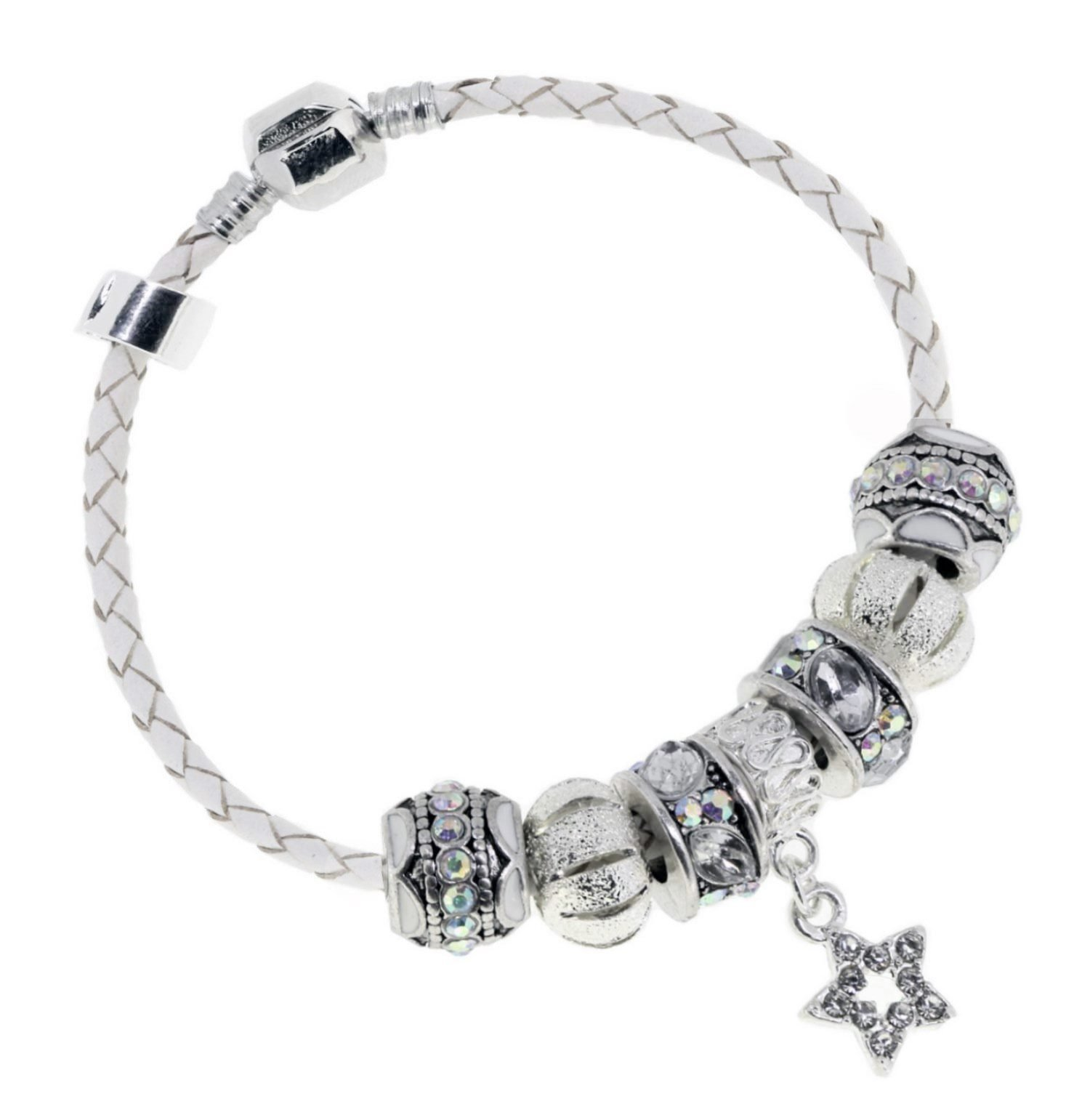 Truly Charming Happy Birthday Leather Charm Bracelet European Style Gift Boxed (21cm)