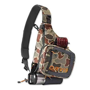 Orvis Safe Pasaje Sling Pack/Only Safe Passage Sling Pack - 61Y7-61-10, MARRÓN (Brown Camo): Amazon.es: Deportes y aire libre
