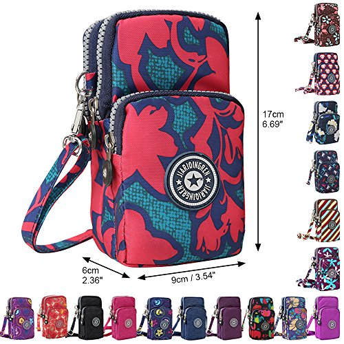 Crossbody Maple Wocharm Womens Messenger Purse Wristlet Mini Layers Red Handbag Leaf 3 Shoulder qIScIprB