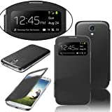 Sanlise NEW FLIP S-VIEW CASE COVER FOR SAMSUNG GALAXY S4 SIV I9500 FREE SCREEN PROTECTOR
