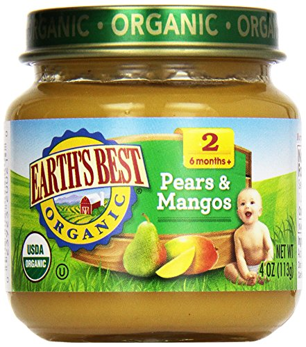 Earths Best Pear Juice - Earth's Best Organic Baby Food Stage 2 Pears and Mangos -- 4 oz