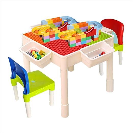 Mesa de Juego Mesas De Bloques De Construcción para Niños Mesa De ...