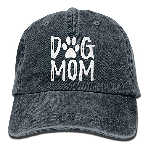 OASCUVER Denim Fabric Adjustable Dog Mom Fashion Baseball Cap Blue