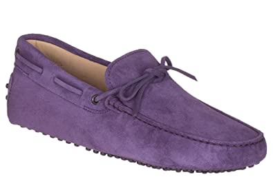Tods Mens Purple Suede Pebbled Gommino Driving Moccasin Loafer Shoes, Purple, ...