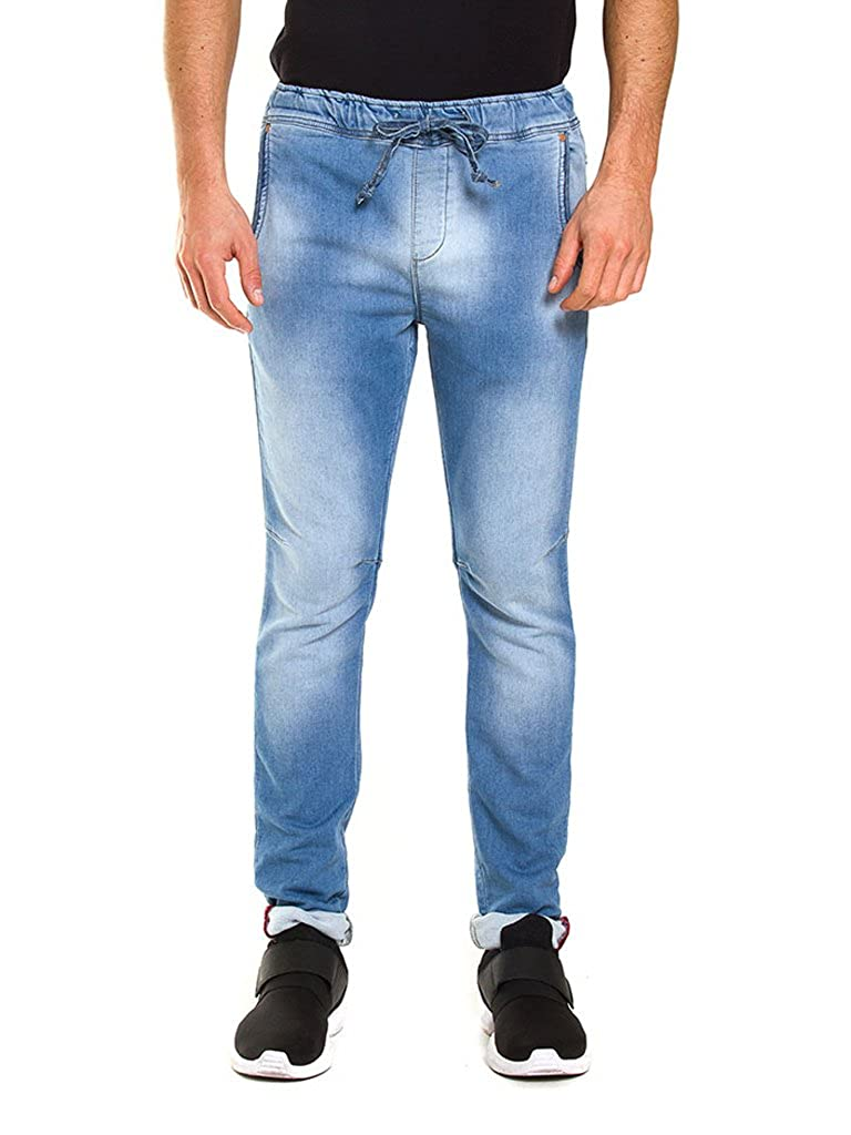 Pour Carrera Jeans Denim Homme Tissu Jogger Style rrUqnE
