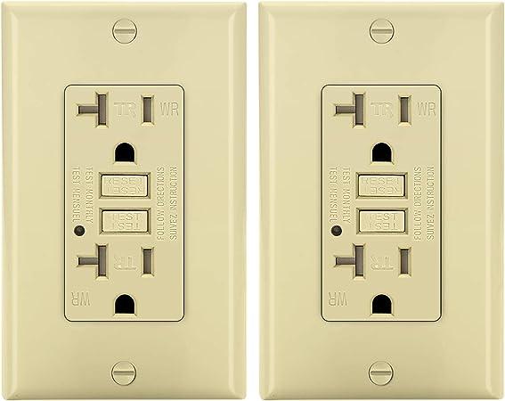 *NEW* 20A Standard Duplex Receptacles 20 Amp Tamper Resistant Brown TR 100 pc