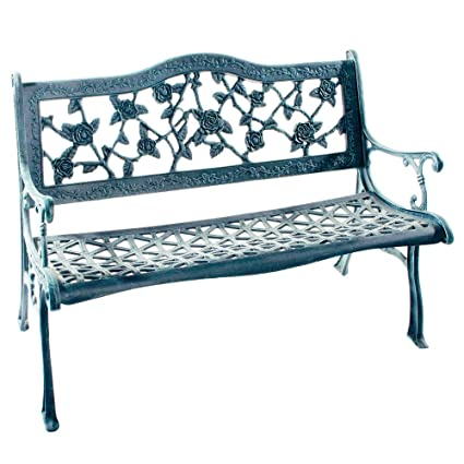 Fantastic Amazon Com Flower Lovers English Rose Cast Aluminum Evergreenethics Interior Chair Design Evergreenethicsorg