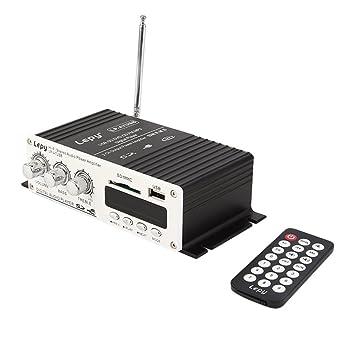 Mini amplificador de audio estéreo de 12 V para coche, MP3, alta fidelidad,