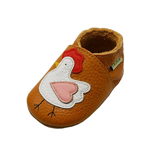 2225d2171c2 Sayoyo Baby Chicken Soft Sole Leather Infant Toddler Prewalker Shoes (6-12  months)