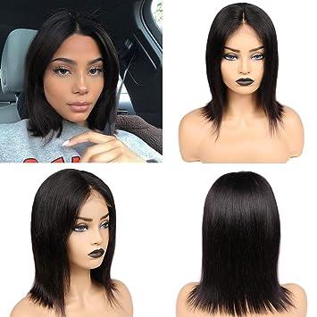 Amazon Brazilian Virgin Human Hair Wigs Glueless Lace Front