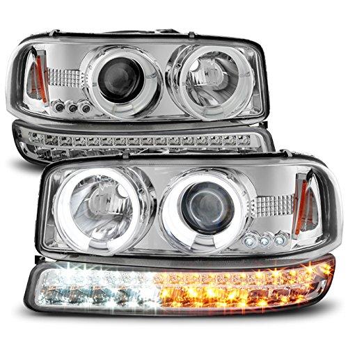 04 gmc sierra halo headlights - 3