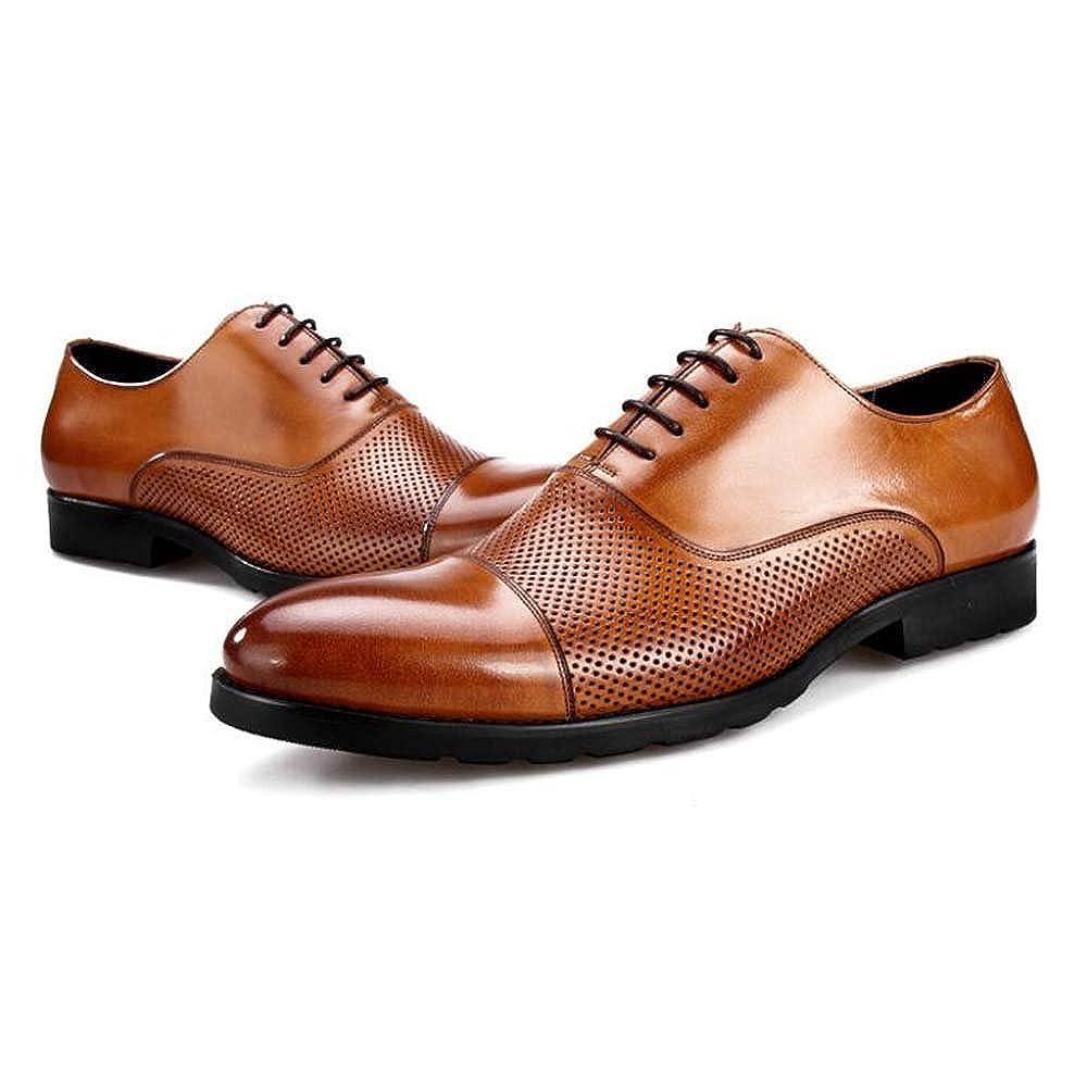 Herrenschuhe Business Casual Spitz Schuhe Leder Lederschuhe Hohl