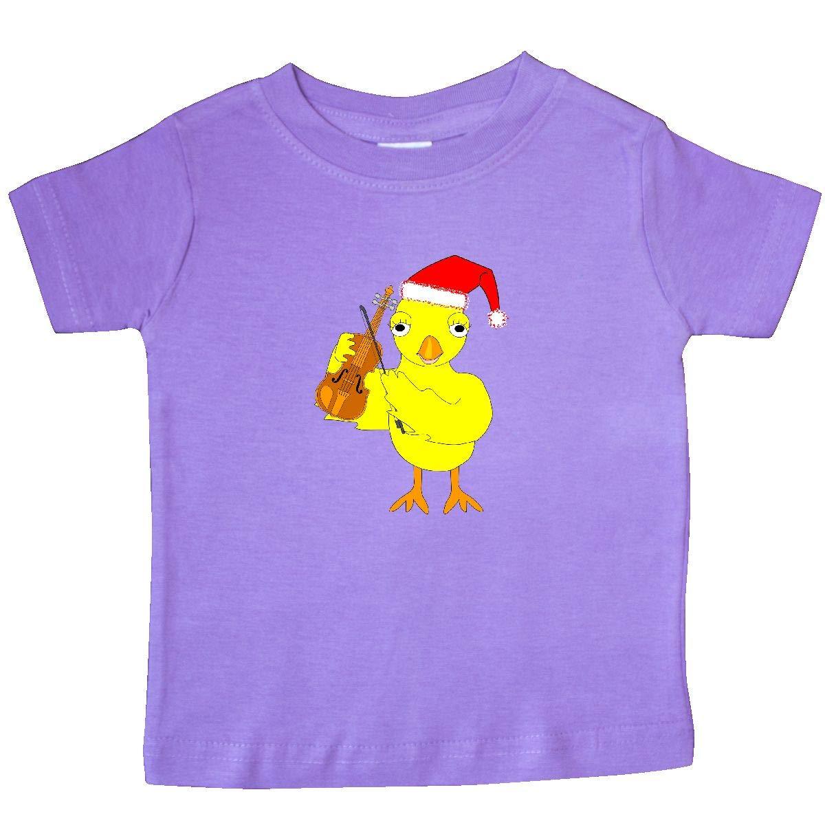inktastic Santa Cap Violin Chick Baby T-Shirt