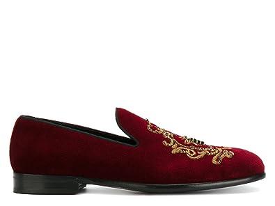 Men's A50073AL3058B420 Burgundy Velvet Loafers