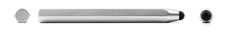 DURAGADGETシルバーアルミニウムタッチスクリーンスタイラスwith – Capacitiveラバーチップfor 1200qc、i-onik Haierパッドマキシ10.1 B00FGS8ZUI CM、Haier Mini 8