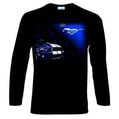 Ford Mustang Gt Shelby Logo Manner Langarm Printed T Shirt Amazon