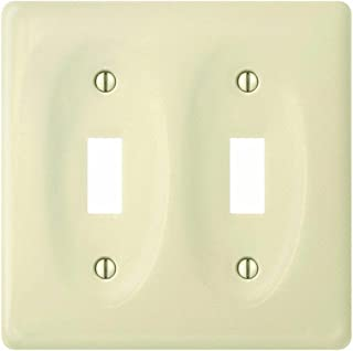 product image for Jackson-Deerfield Mfg. 982BN Porcelain Bone Switch Wall Plate