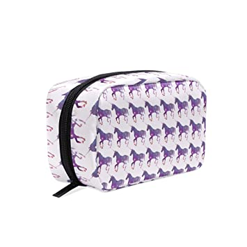 9b8517c89d81 Unicorn Wearing Purple Sign Square cosmetic bag compartment ...