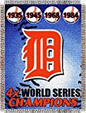 MLB Detroit Tigers Commemorative Acrylic Tapestry Throw Blanket