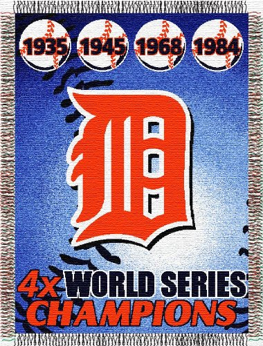 Commemorative Woven Mlb Tapestry Throw (MLB Detroit Tigers Commemorative Woven Tapestry Throw, 48