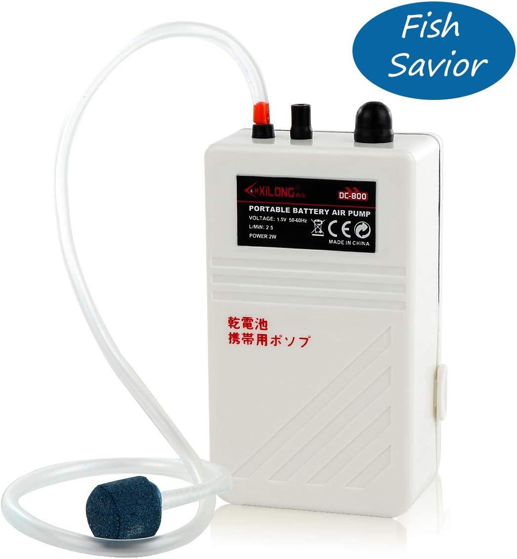 flexible air-hose 2W 2.5L//min Aquarium Air Pump Aerator Oxygen Battery Operated