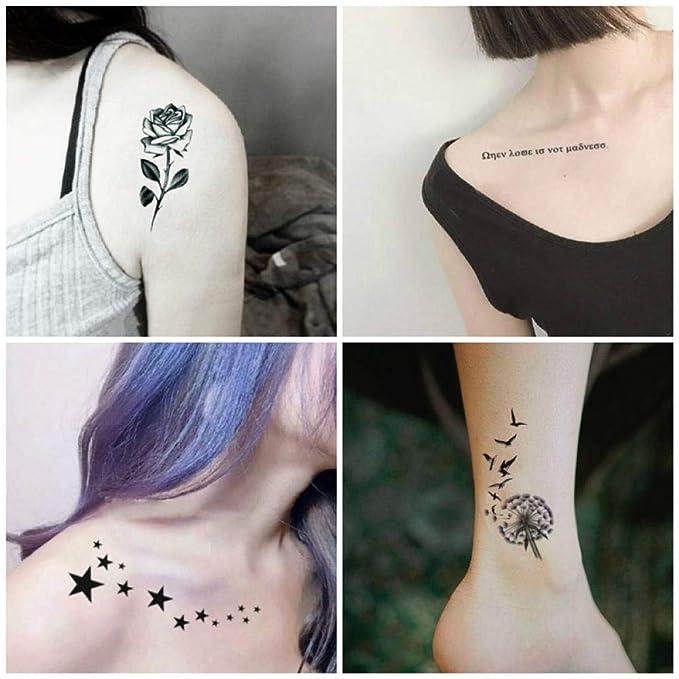 Original fresco tatuaje pegatinas coreano impermeable hembra ...