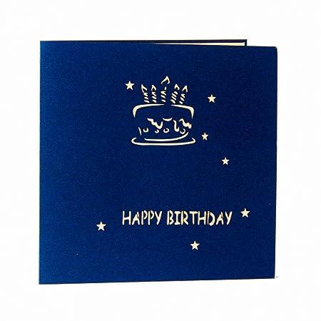 Tarjeta de felicitación de cumpleaños 3D, tarjetas 3D de ...
