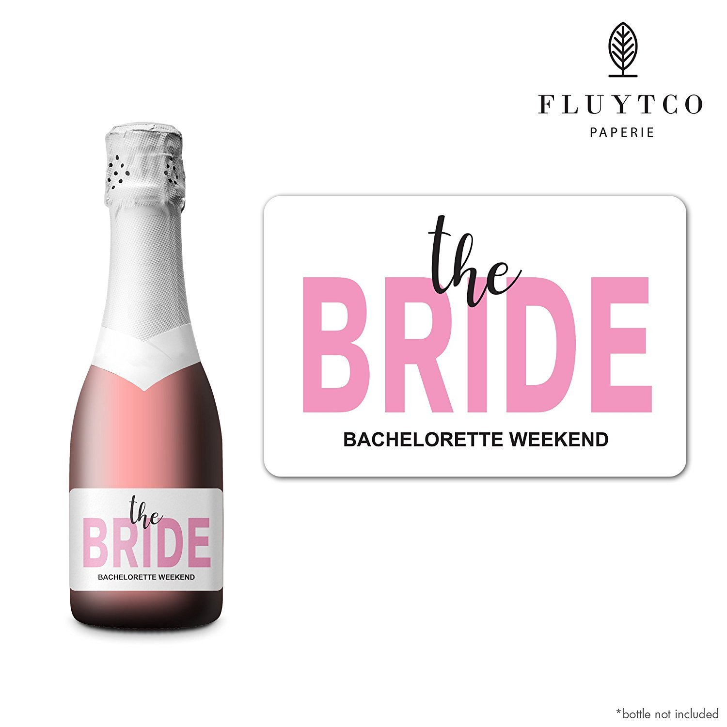 Bridesmaid Maid /& Matron of Honor Proposal Gift- Engagement Party- Bridal Shower Set of 20 Bachelorette Mini Champagne Bottle /& Gift Box Label Stickers BRIDE TRIBE