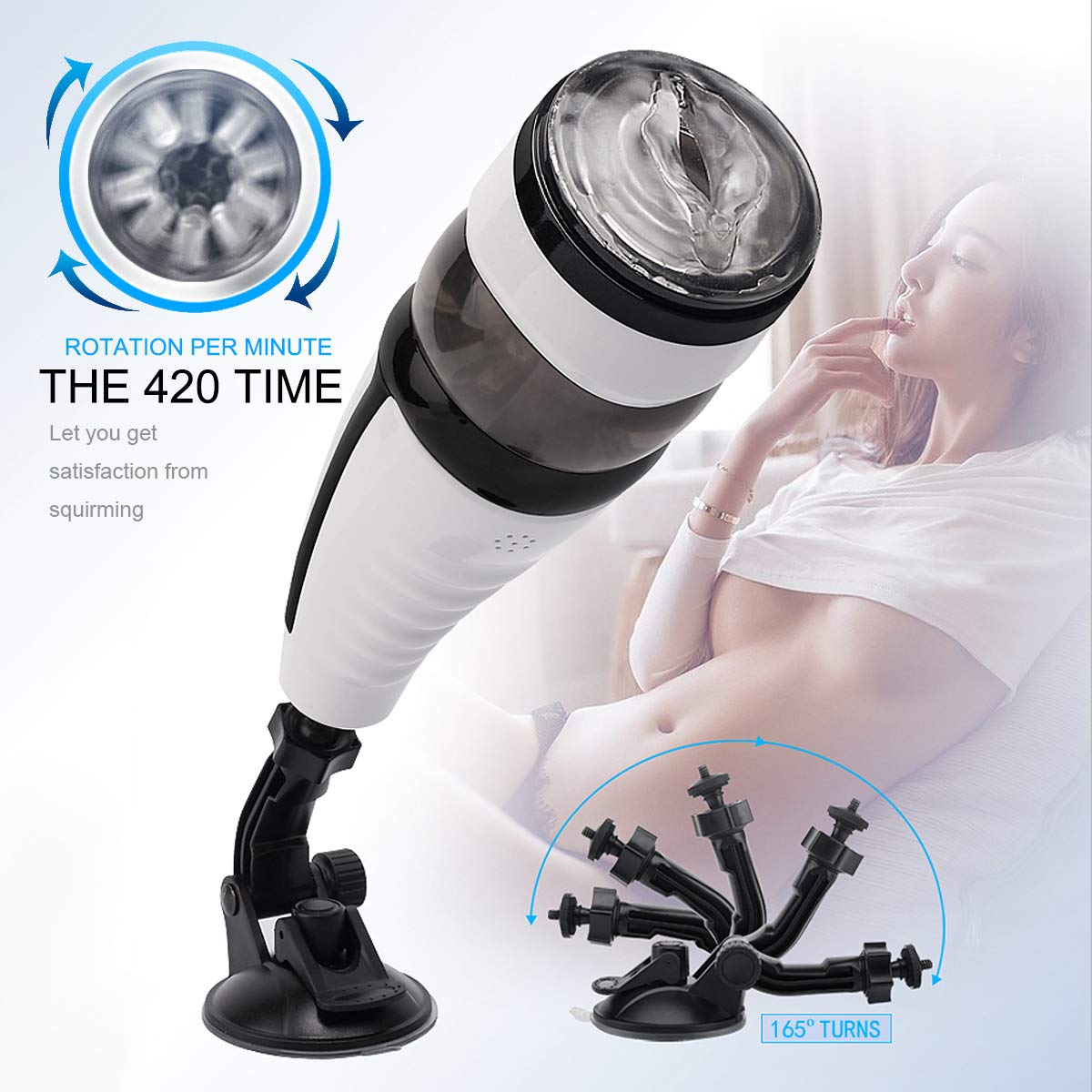 huaxiao66 Automatic Telescopic Sucking Male Massager Toys for Men Heating Realistic Products Toys Tshirt,Deluxe Wearable Adullt Toys Six Toys for Male Tshirt
