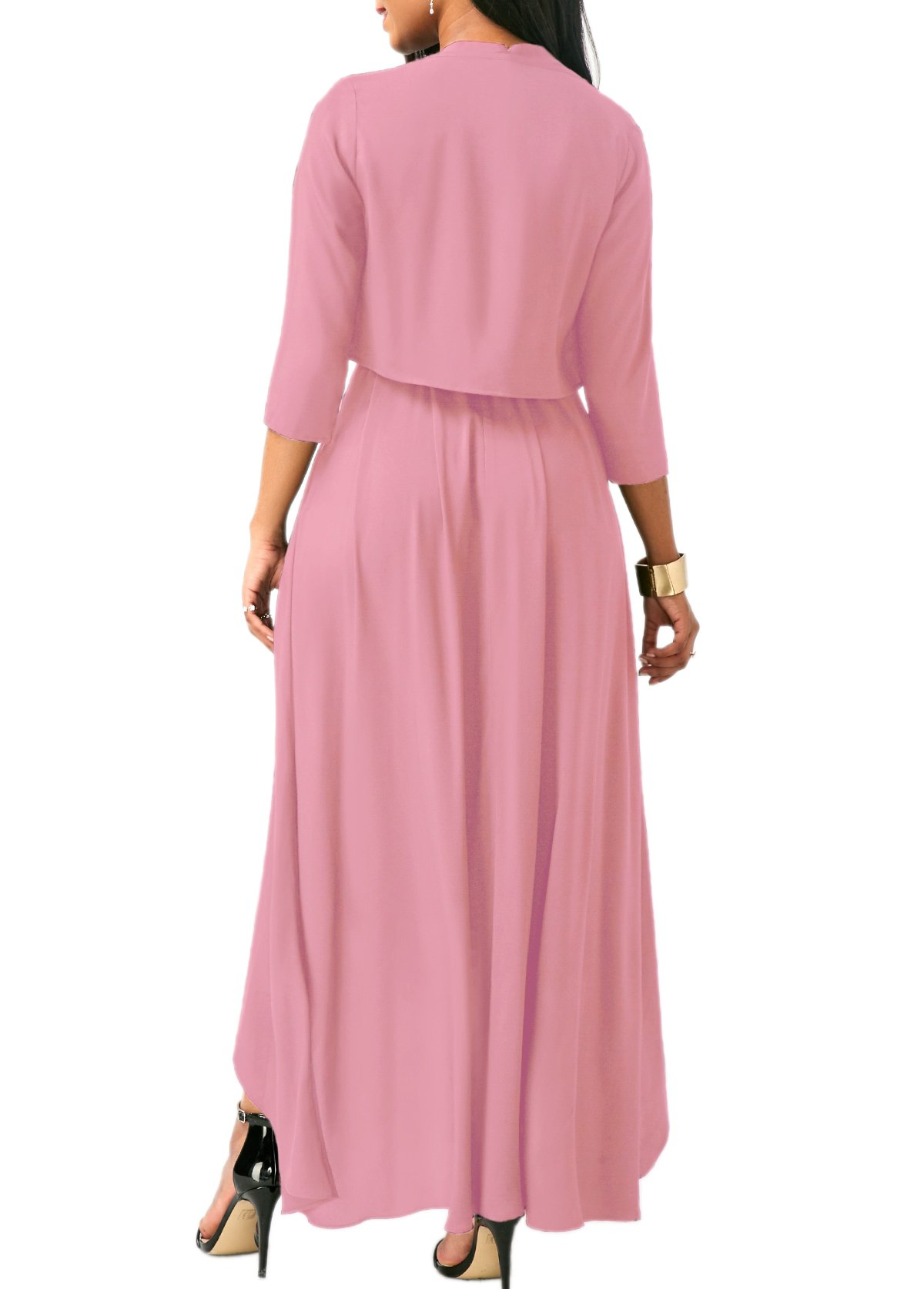 Lalagen Womens Plus Size Sleeveless Belted Party Maxi Dress with Cardigan by Lalagen (Image #4)