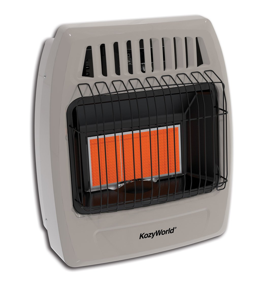 Amazon.com: Kozy World KWN523 30000 Btu 5 Plaque Natual Gas Infrared Vent  Free Wall Heater: Home U0026 Kitchen
