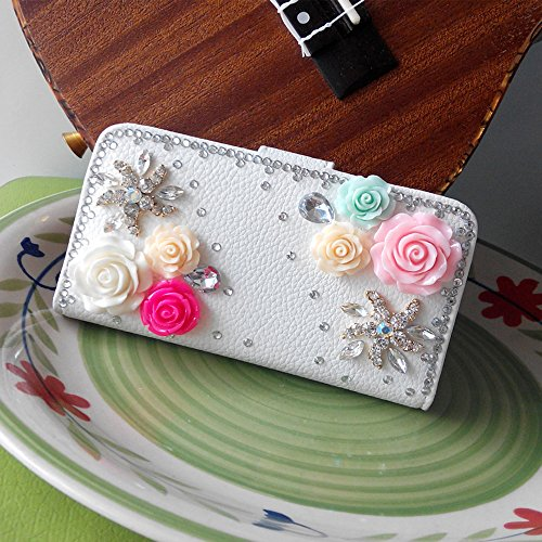 Crazy Panda New Iphone 5C DIY Diamond Stand Case Fantasy White Princess Style Stand Fold Leather Wallet Folio Rhinestone Case For iPhone 5C (Miss sheep)