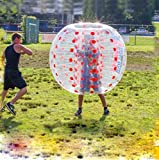 Xmas PROMO Witlucky Soccer Bubble Ball Inflatable Bubble Football Dia 4' (1.2m) for Kids 1 per Box (Red)