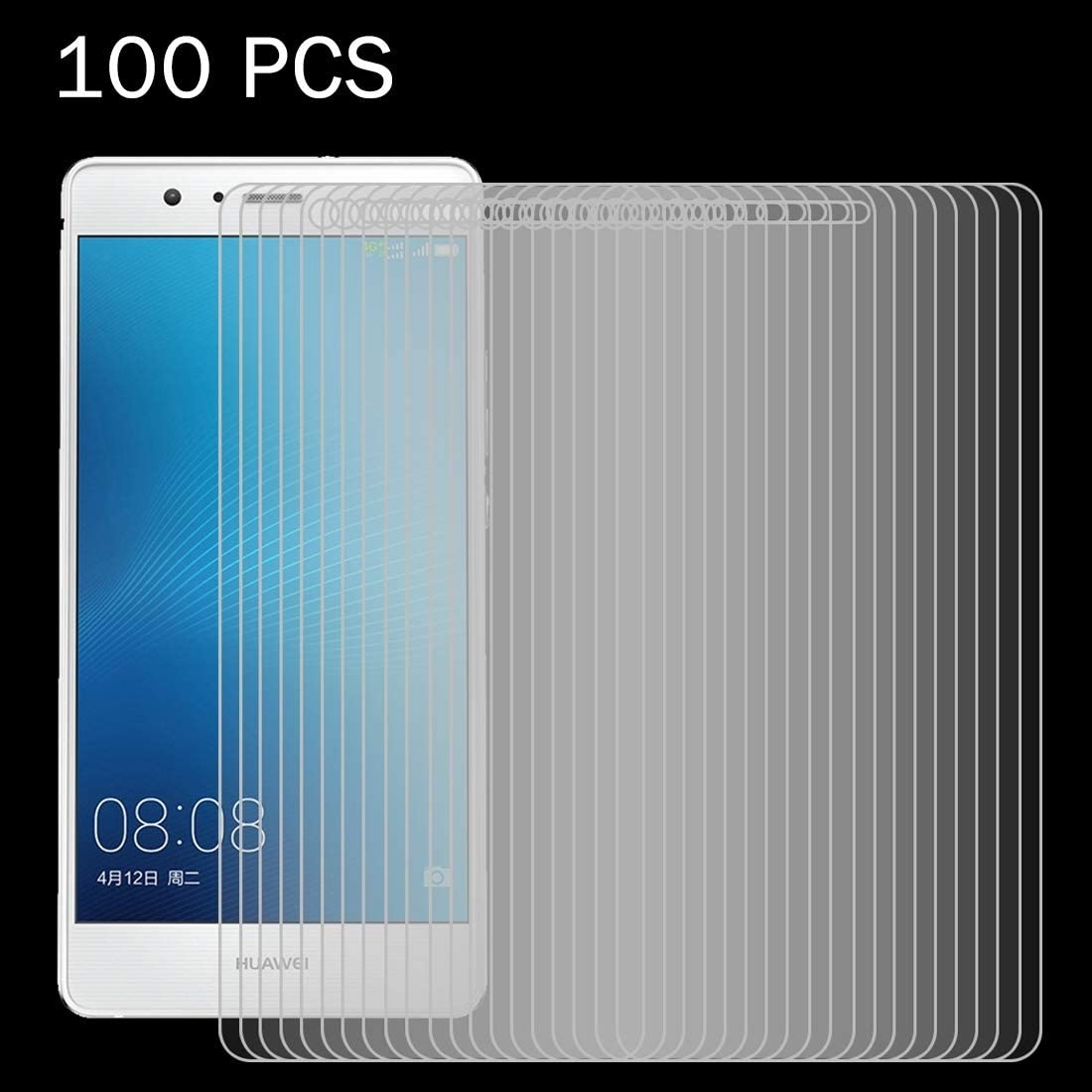 LIUDSASSBFQINGR Screen Protectors 100 PCS for Huawei P9 Lite 0.26mm 9H Surface Hardness 2.5D Explosion-Proof Tempered Glass Screen Film Cell Phones Accessories