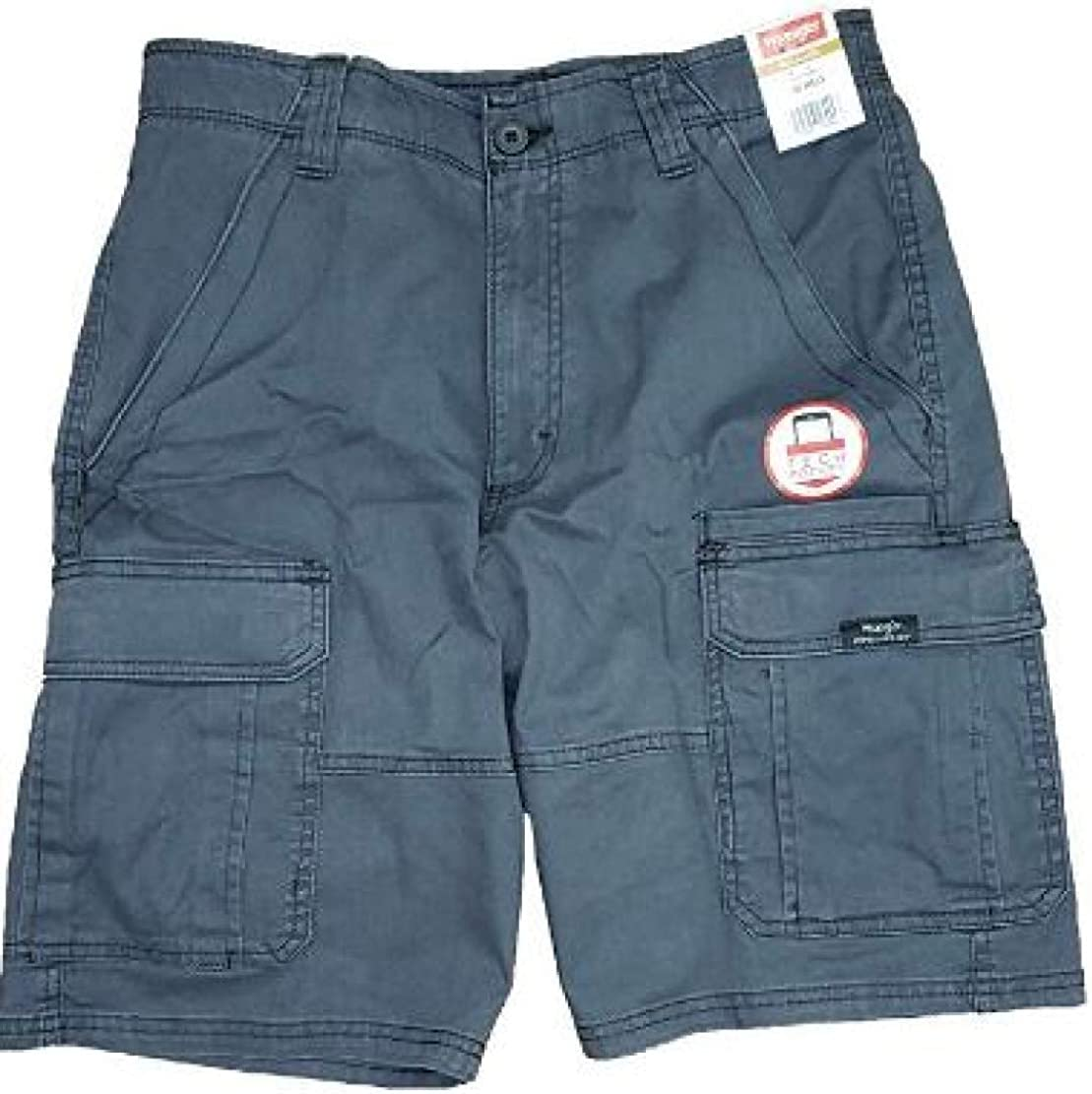 Wrangler Anthracite Relaxed Fit at Knee Flex Cargo Shorts