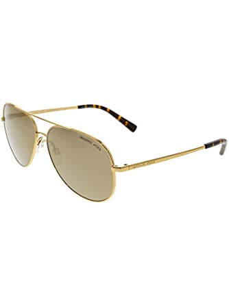 816dede924480 Amazon.com  Michael Kors Women s Kendall MK5016 56mm Gold Light Brown  Mirror Dark Gold One Size  Clothing