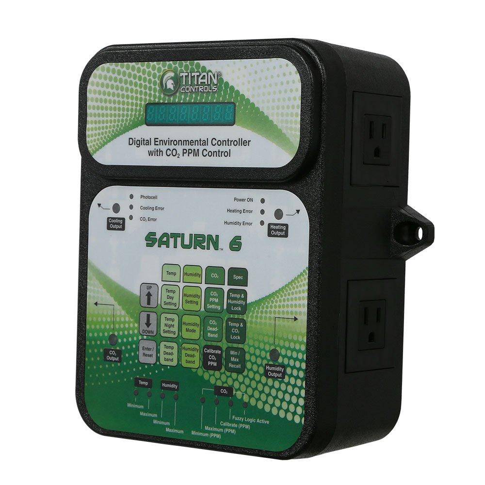 Titan Controls Digital Environmental Controller w/ Carbon Dioxide (CO2) PPM Control, 120V - Saturn 6 by Titan Controls (Image #7)