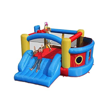 Amazon.com: Magic Tiempo Fort el Deporte Bouncer hinchable y ...
