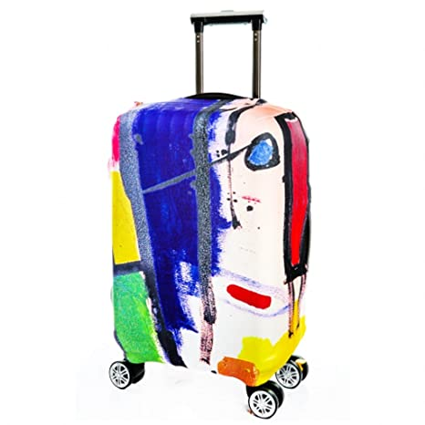 62ab7a2253e7 Amazon.com | Fvstar Washable Luggage Cover Spandex Suitcase ...