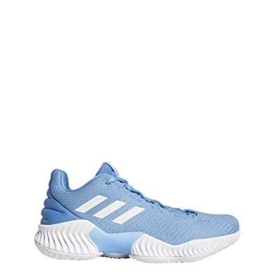 adidas Pro Bounce 2018 Low Shoe Men s Basketball 9.5 Light Blue-White 2c9fc3bbf