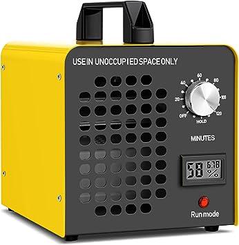 Movilideas Generador de Ozono Profesional de 30 gr//Hora 30.000 MG//h Desodorizador Eliminaci/ón De Olores Ionizador Purificador De Aire